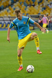 Andriy Yarmolenko with the ball Royalty Free Stock Images