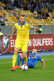 Andriy Yarmolenko beated an opponent Royalty Free Stock Photo