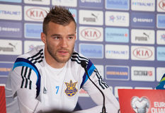 Andriy Yarmolenko with coach Mykhailo Fomenko Stock Images
