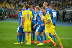Andriy Yarmolenko runs around the back wall Stock Photos