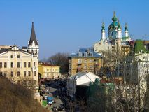 Andriyivsky uzviz, Kiev, Ukraine Royalty Free Stock Photography