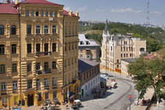 Andriyivskyy Descent street in Kiev Royalty Free Stock Photos