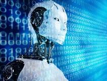 Androïde de robot Images libres de droits