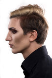 Androgynous fashion man looking away Stock Images