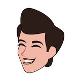 Androgynous man icon image. Illustration design Royalty Free Stock Images