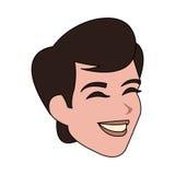 Androgynous man icon image. Illustration design Stock Photos