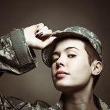 Androgynous Soldier Royalty Free Stock Image