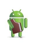 Android есть сандвич мороженного Стоковое фото RF