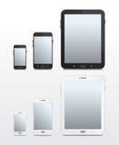Android-ansässige Telefone und Tablets - Vektor Stockfoto