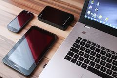 Android, Apple, Devices Stock Image