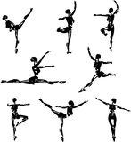 Android Ballet Silhouettes Stock Images