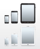 Android-baserade telefoner och minnestavlor - vektor Arkivfoto
