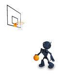 Android Basketball Player. 3D Render of an Android Basketball Player Stock Photos