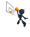 Android Basketball Player. 3D Render of an Android Basketball Player Stock Photography