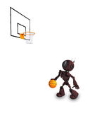 Android Basketball Player. 3D Render of an Android Basketball Player Royalty Free Stock Photography