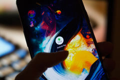 Android betaalt de dienst Stock Foto