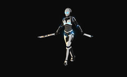 Android character. 3d render of android character Stock Photo