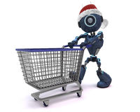 Android Christmas Shopping Stock Image
