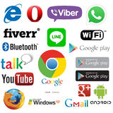 Android, computer and web application logos Royalty Free Stock Photography