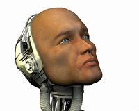 Android, cybernetic intelligence. Machine in 3d Stock Photos
