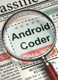 Android-de Codeur wordt lid van Ons Team 3d Stock Foto's