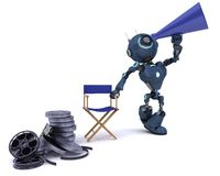 Android in directors chair with megaphone Stock Image
