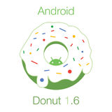 Android Donut 1.6 Flat Vector vector illustration