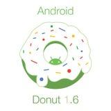 Android-Doughnut 1 6 vlakke Vector vector illustratie