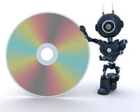 Android with DVD Disc Royalty Free Stock Photography