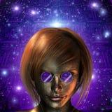 Android dziewczyna Obrazy Royalty Free