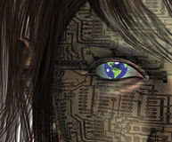 Android Earth Eye Stock Images