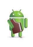 Android eating ice cream sandwich Royalty Free Stock Photo
