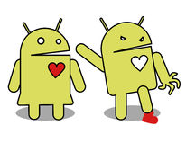 Android fâché illustration stock