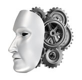 Android face - gear brains. Royalty Free Stock Photos
