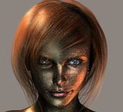 Android Female. High Resolution Symbolic Illustration Android Female Royalty Free Stock Photography