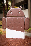 Android figures on Google Campus Royalty Free Stock Photography