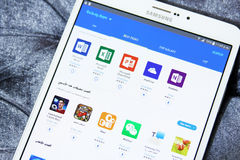 Android galaxy apps store on samsung tab s2 Stock Photos