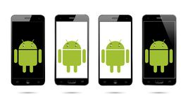 Android-Handy lizenzfreie abbildung