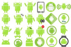 Android icon Collection stock illustration