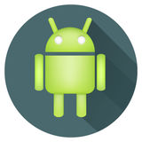 Android icon with long shadows. Vector android icon with long shadows vector illustration