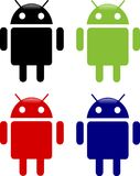 Android icons. Different android logo elements Stock Photo