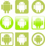 Android icons Royalty Free Stock Photos
