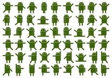 Android-Ikonen stock abbildung