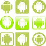 Android ikony Zdjęcia Royalty Free