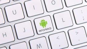 Android ikony guzik zdjęcie royalty free