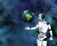 Android, intelligenza cibernetica Immagini Stock