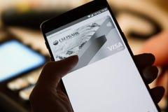Android lönservice Royaltyfria Bilder