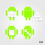 Android marshmallow royalty free illustration