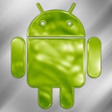 Android metallic logo Stock Photography