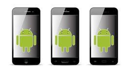 Android mobiltelefon arkivfoto